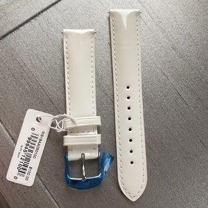 Michele 18mm White Patent Leather Strap